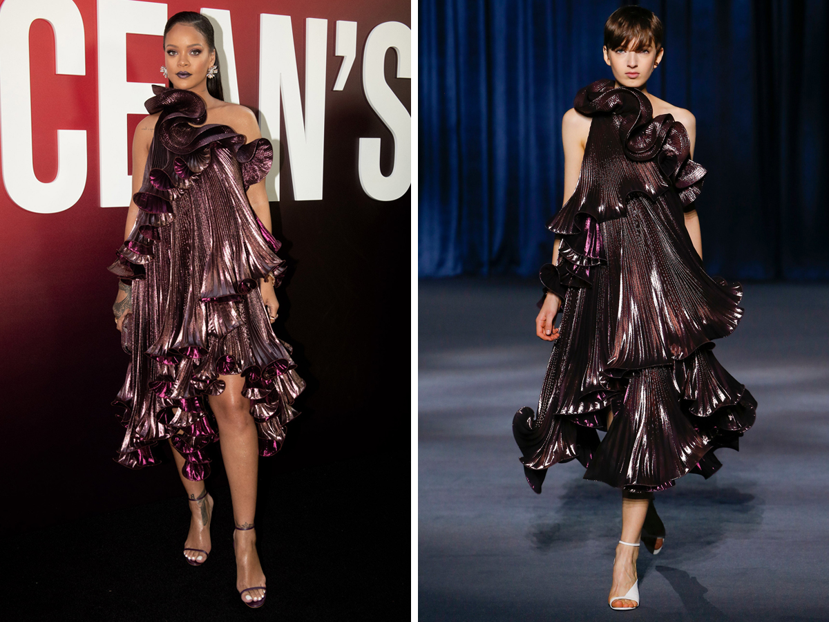 Rihanna diện đầm Givenchy trong buổi ra mắt phim Ocean's 8