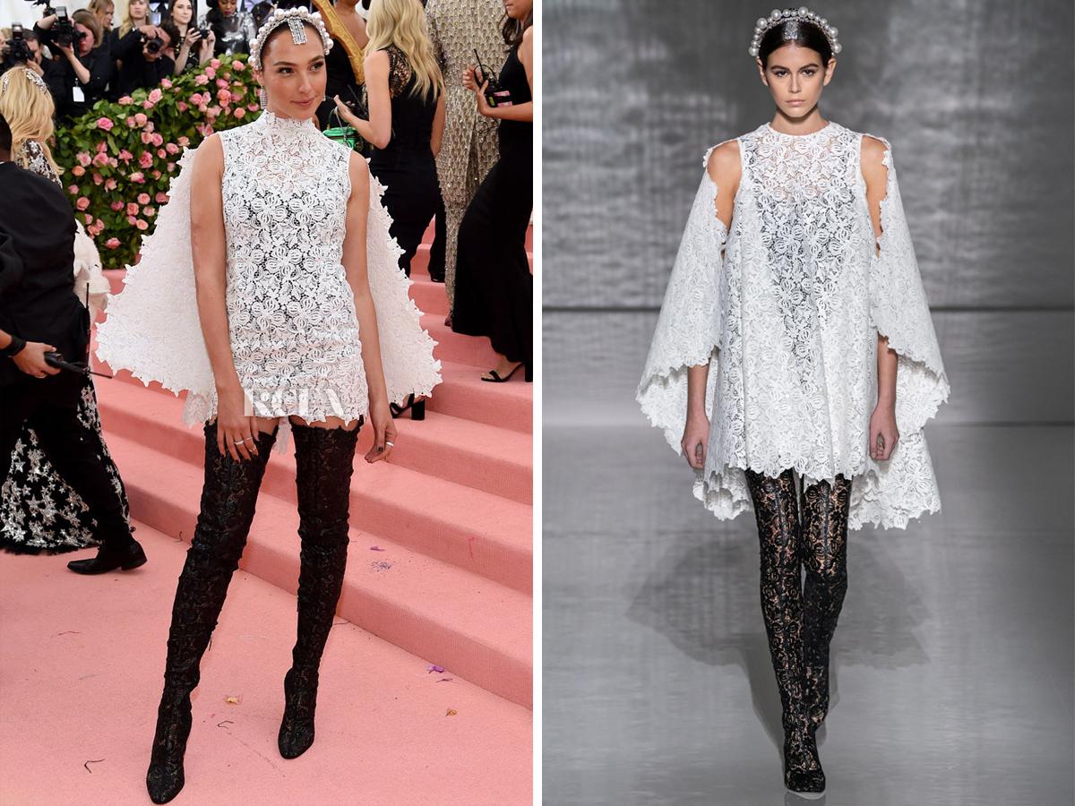 Gal Gadot diện đầm ren trắng của Givenchy ở Met Gala 2019