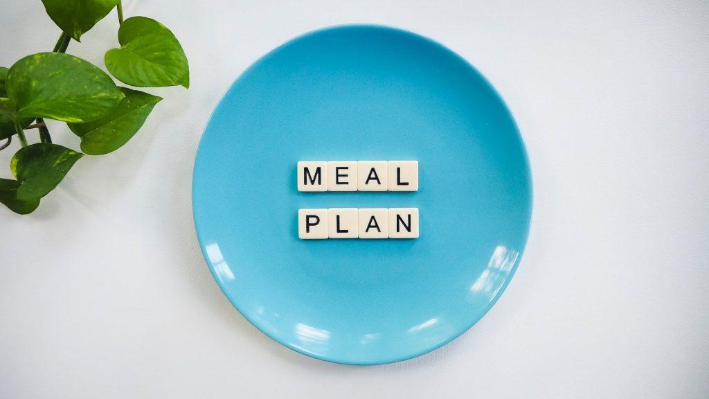 Chế độ ăn kiêng giảm cân-Đĩa màu xanh.