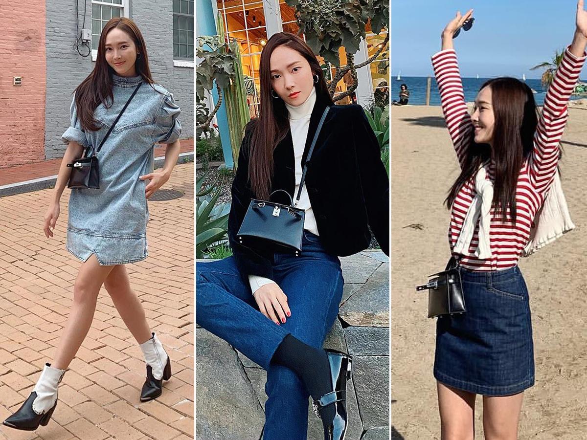 Sao Hàn Jessica Jung đeo túi HERMÈS
