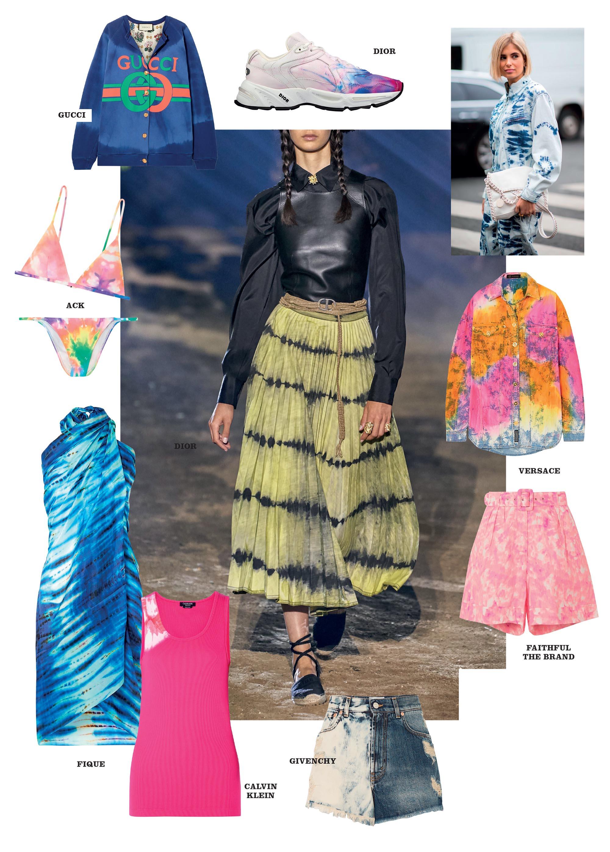 thời trang xuân hè 2020 kỹ thuật nhuộm tie dye