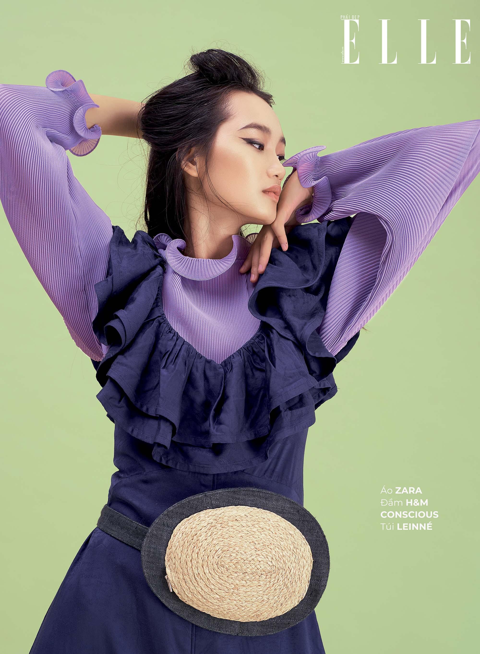 mặc đẹp theo phong cách đồng quê áo tay loe và đầm xếp tầng