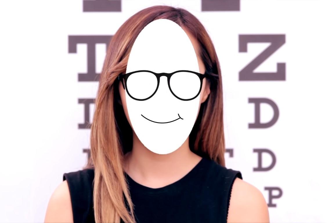 cách chọn kính cận cho mặt thuôn dài