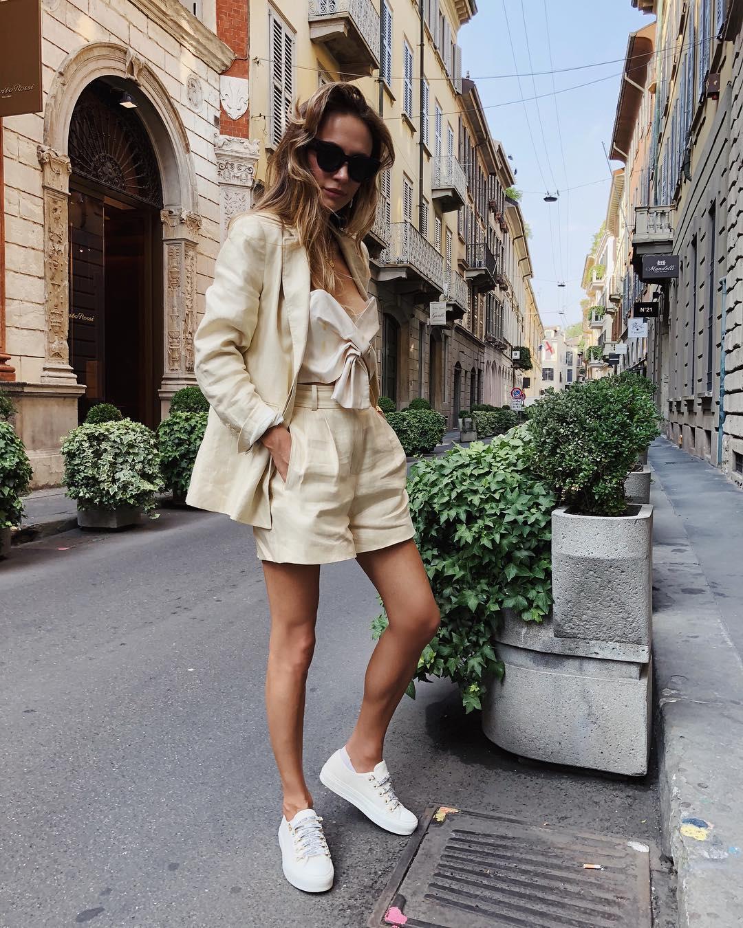 thời trang công sở bộ suit linen vải lanh