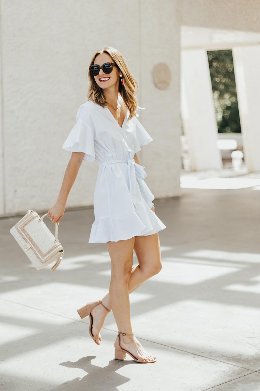 thời trang công sở đầm quấn wrap dress livvy land