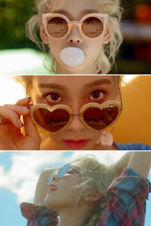 Bộ sưu tập kính mát của ca sĩ Taeyeon trong MV Why