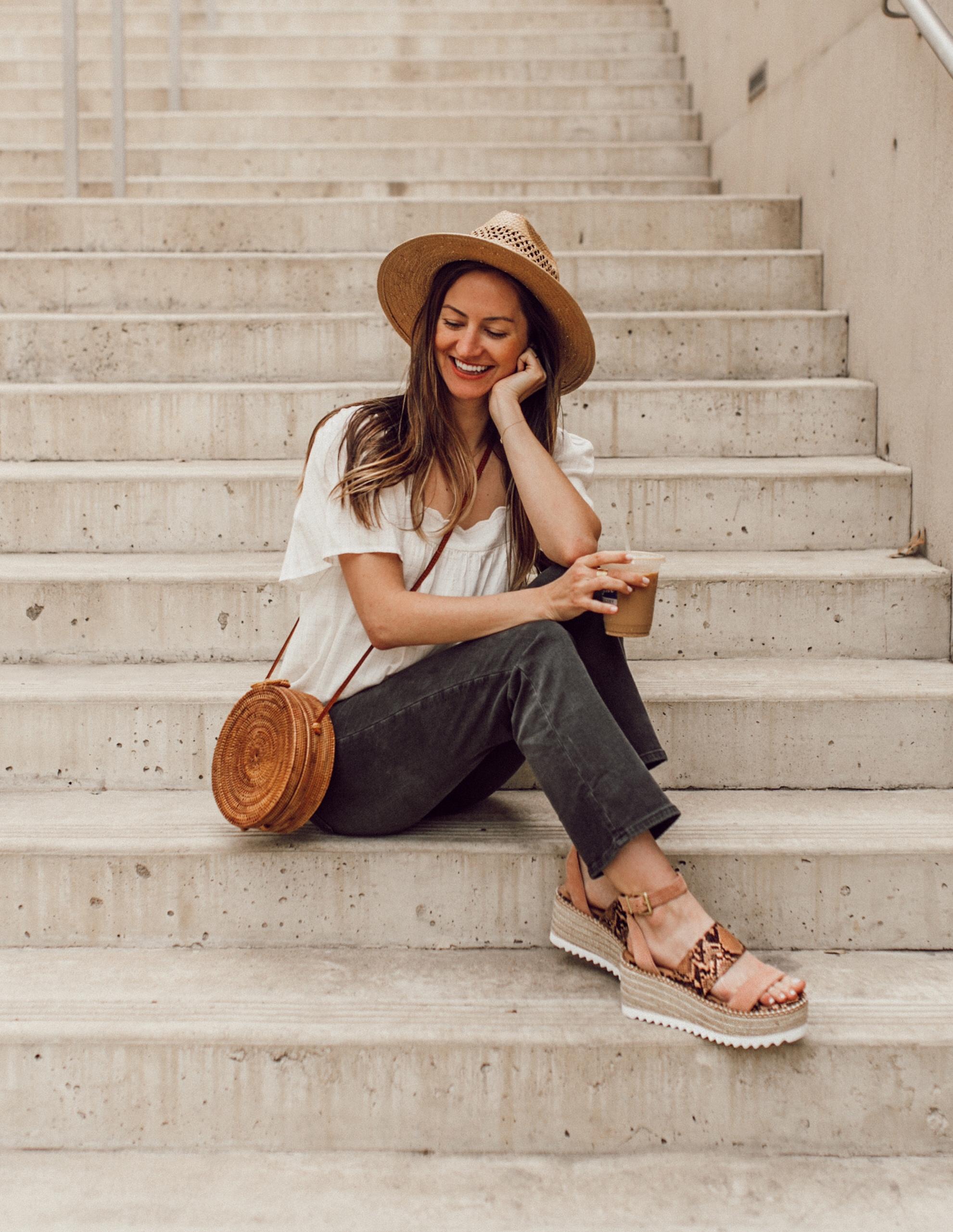 giày sandal đế cói mũ cói túi cói