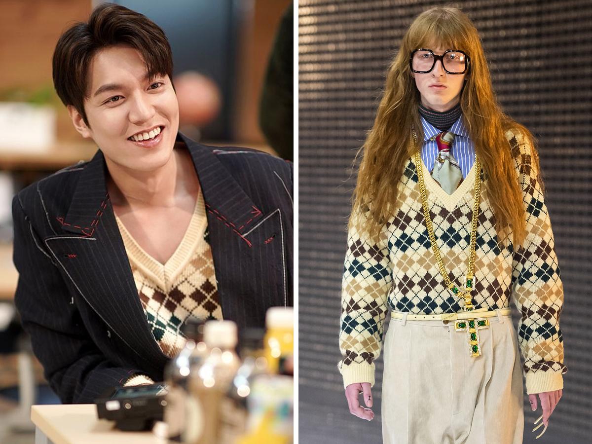Lee Min Ho mặc áo len Gucci trong phim Quân Vương Bất Diệt