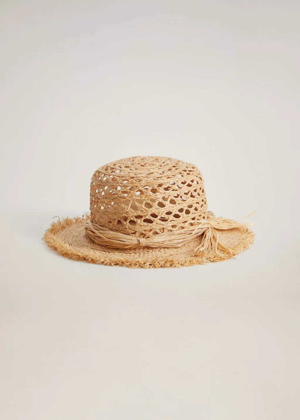 Mũ cói viền rơm mùa Hè của Mango