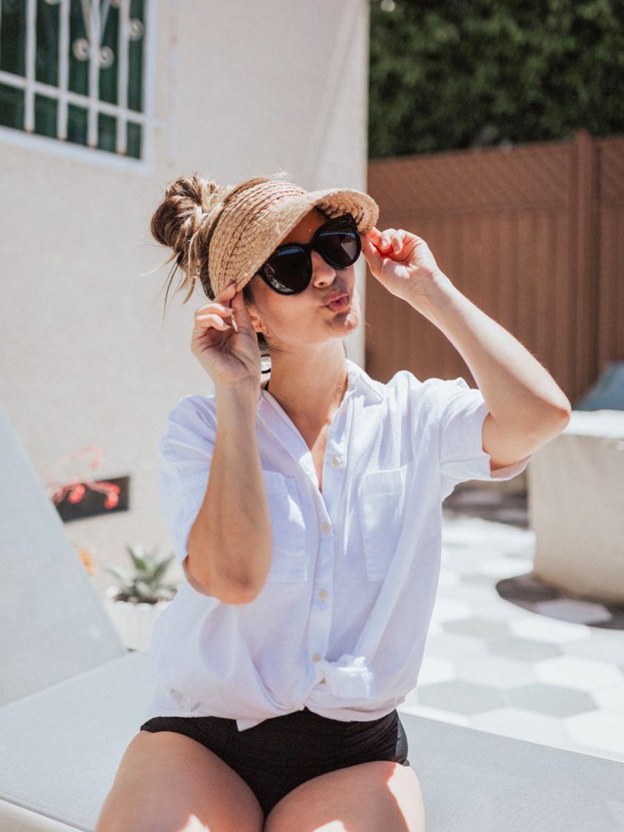 Mũ cói visor chống nắng cho mùa Hè