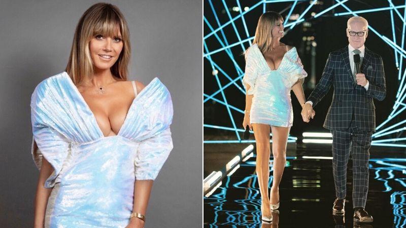 công trí thiết kế váy cho siêu mẫu heidi klum trong show making the cut thumb