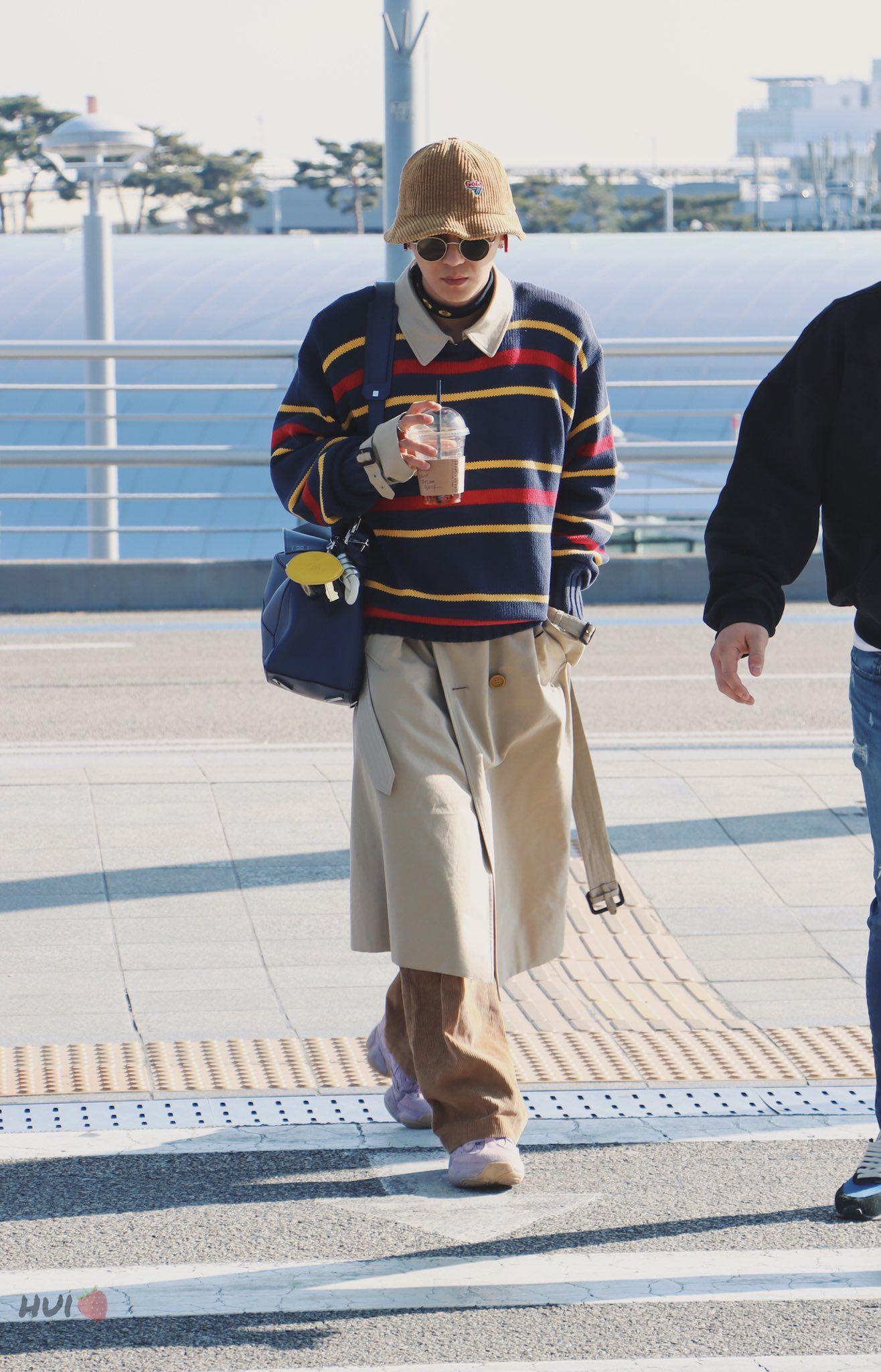 thời trang sao hàn mino diện áo len ngoài trench coat