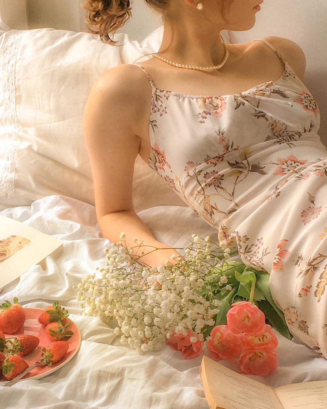 trào lưu Cottagecore váy hoa