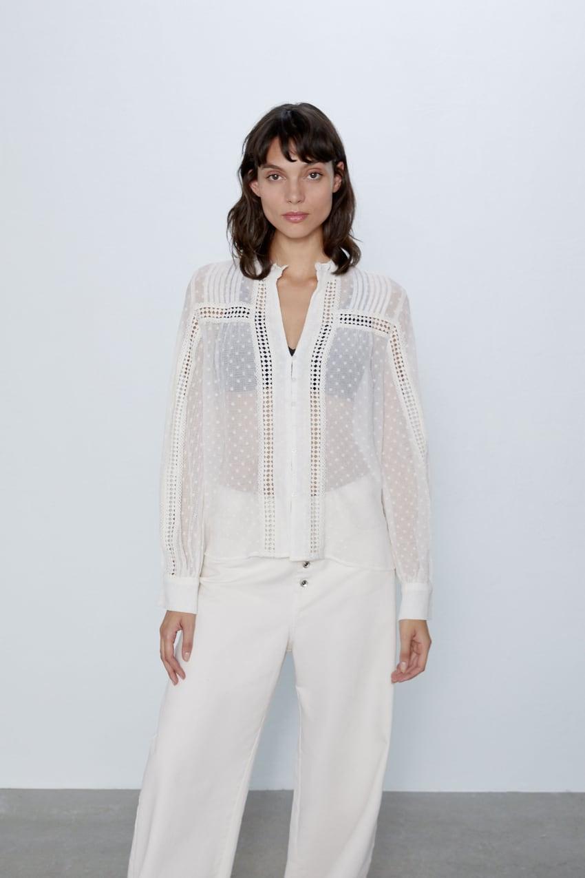 áo khoác mỏng áo khoác voan trắng zara