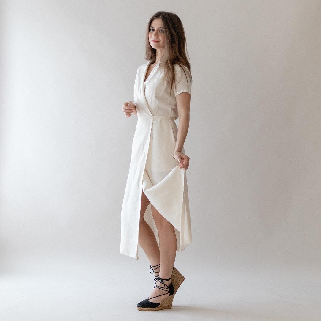 đầm cho dáng hình chữ nhật wrap dress đầm quấn bethany