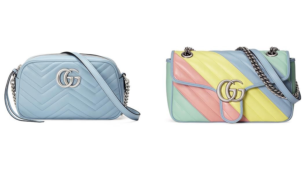 bst túi gucci gg marmont 2 túi xách tay camera top handler bag màu xanh pastel