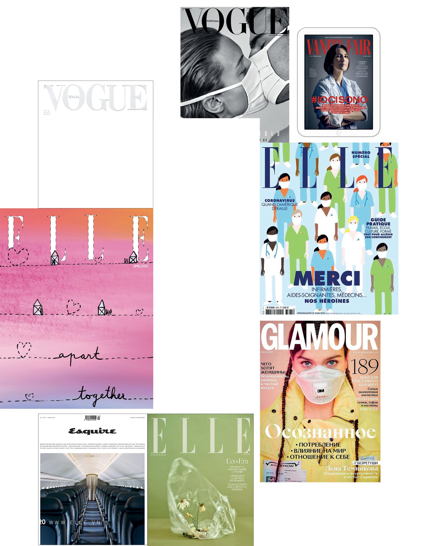 tin thời trang mùa COVID-19 bìa các tạp chí