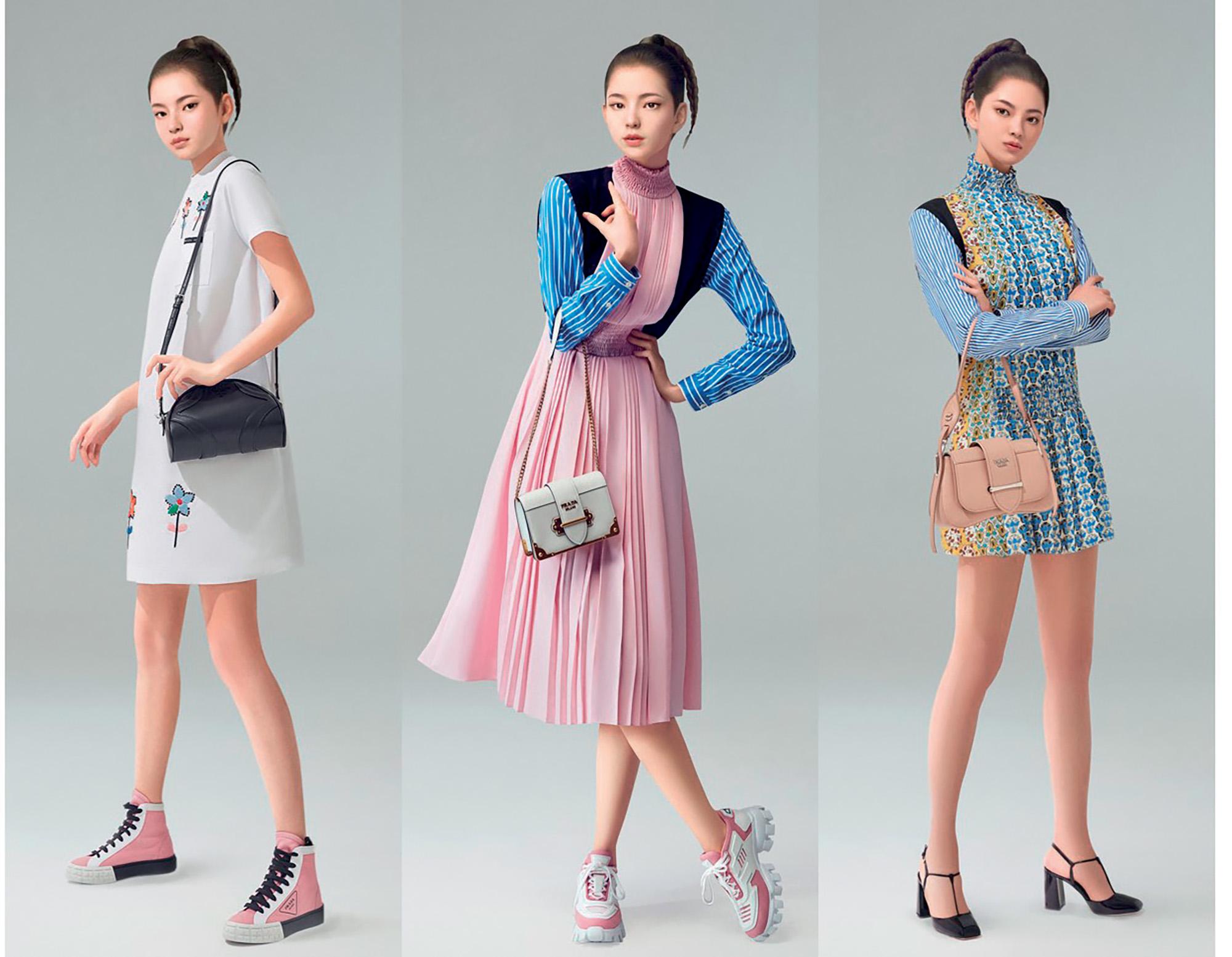 Tình hình ngành thời trang - người mẫu kỹ thuật số của Prada