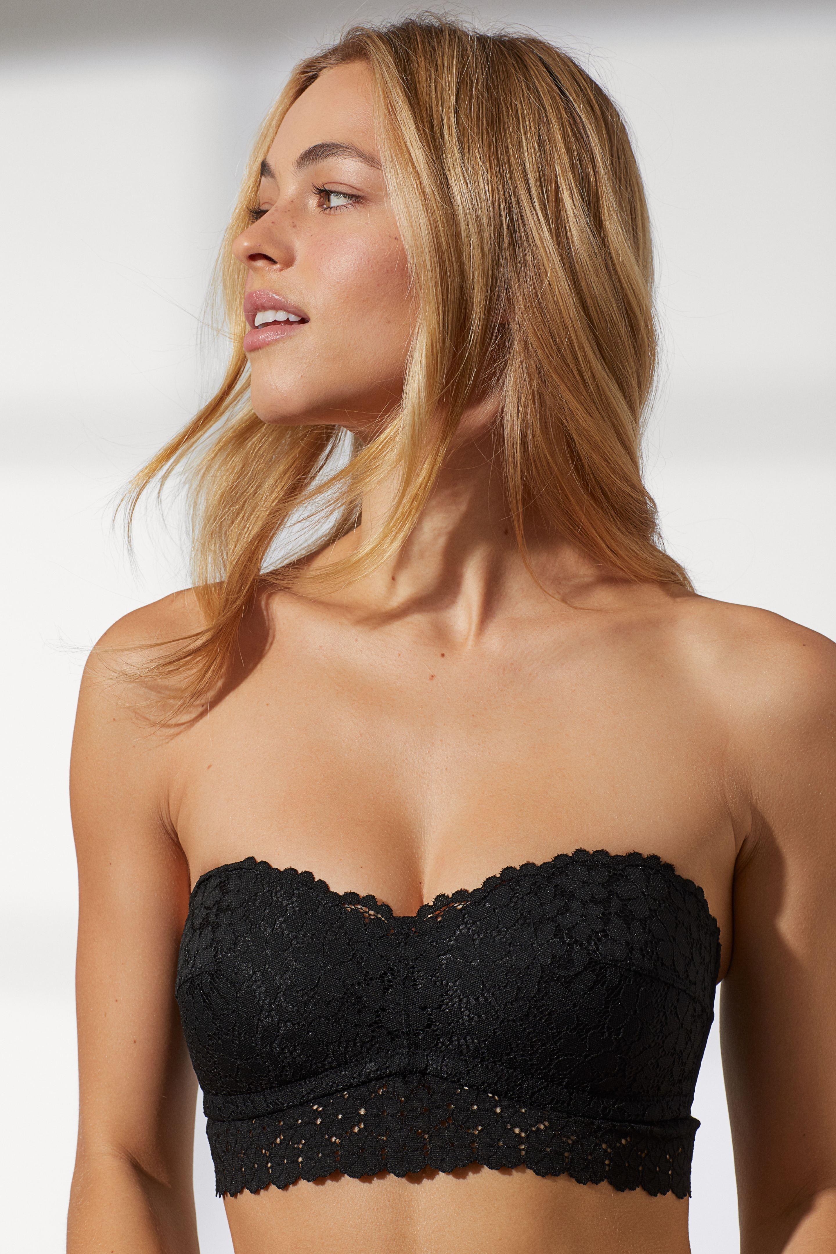 Áo lót nữ quây ngang ren đen H&M