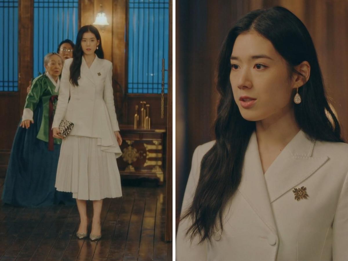 Mặc đẹp như Jung Eun Chae trong Quân Vương Bất Diệt với âu phục váy màu trắng