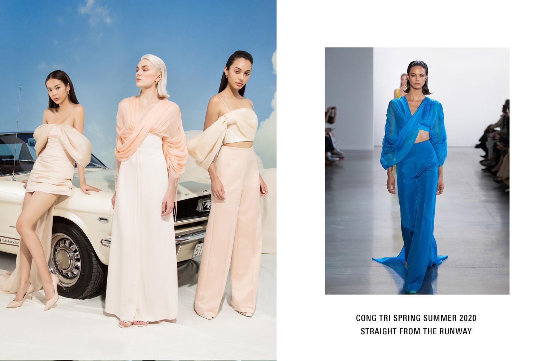 local brand việt nam thiết kế màu pastel trong bst capsule của ntk công trí