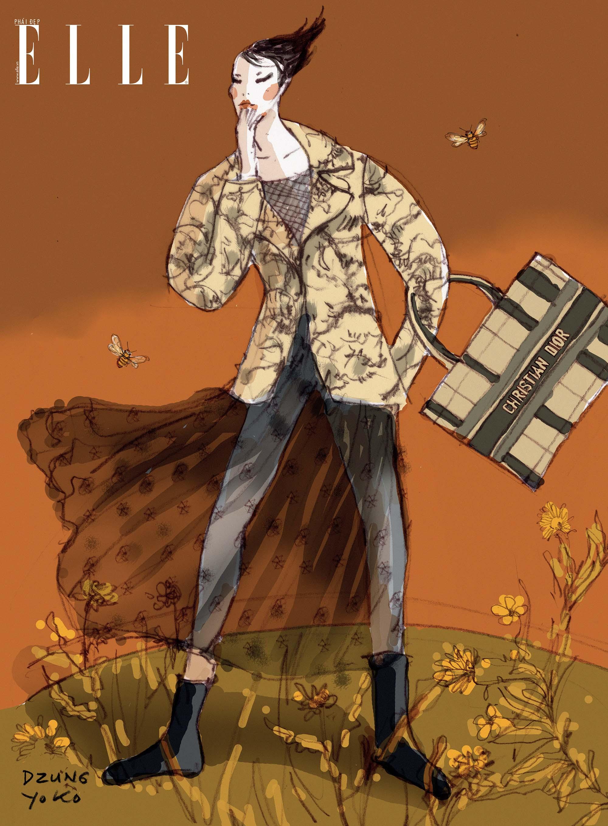 thời trang áo vest Bar Suit Dior