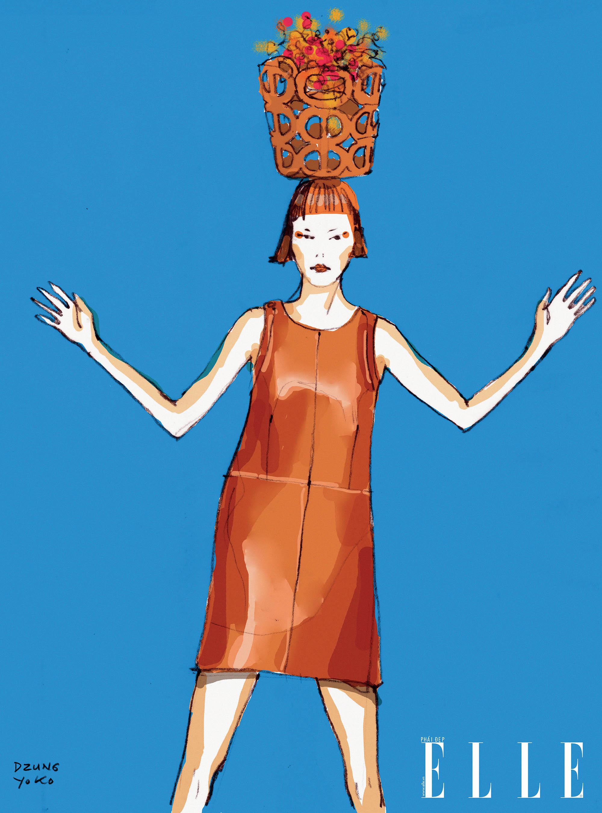 thời trang chất liệu da Hermes