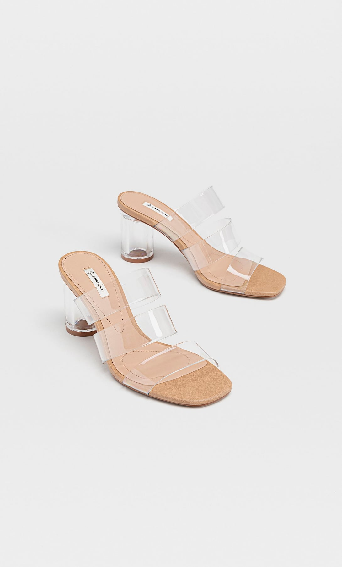 Giày mules trong suốt Stradivarius