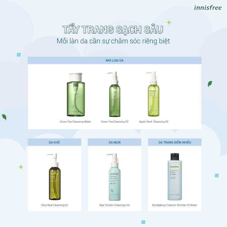 cleansing water và cleansing oil của innisfree ưu đãi