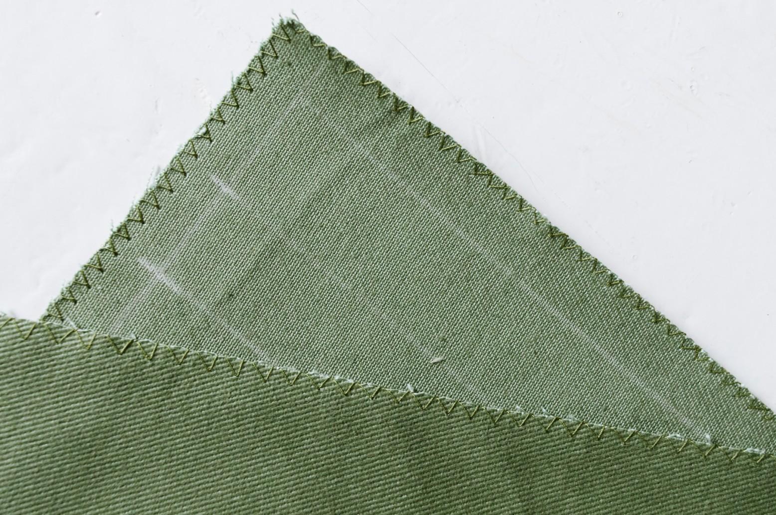 Cách may túi vải tại nhà - vắt sổ mép vải