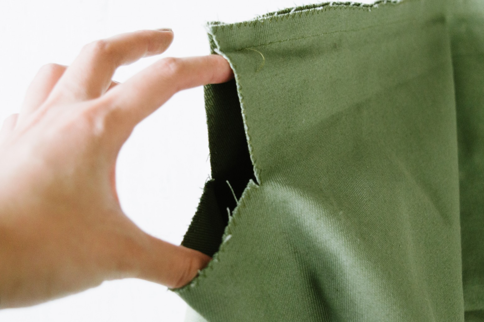 Cách may túi vải tại nhà - mở góc túi