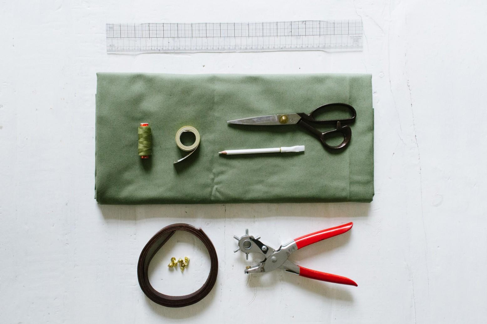 Các vật liệu cần thiết để may túi vải tại nhà