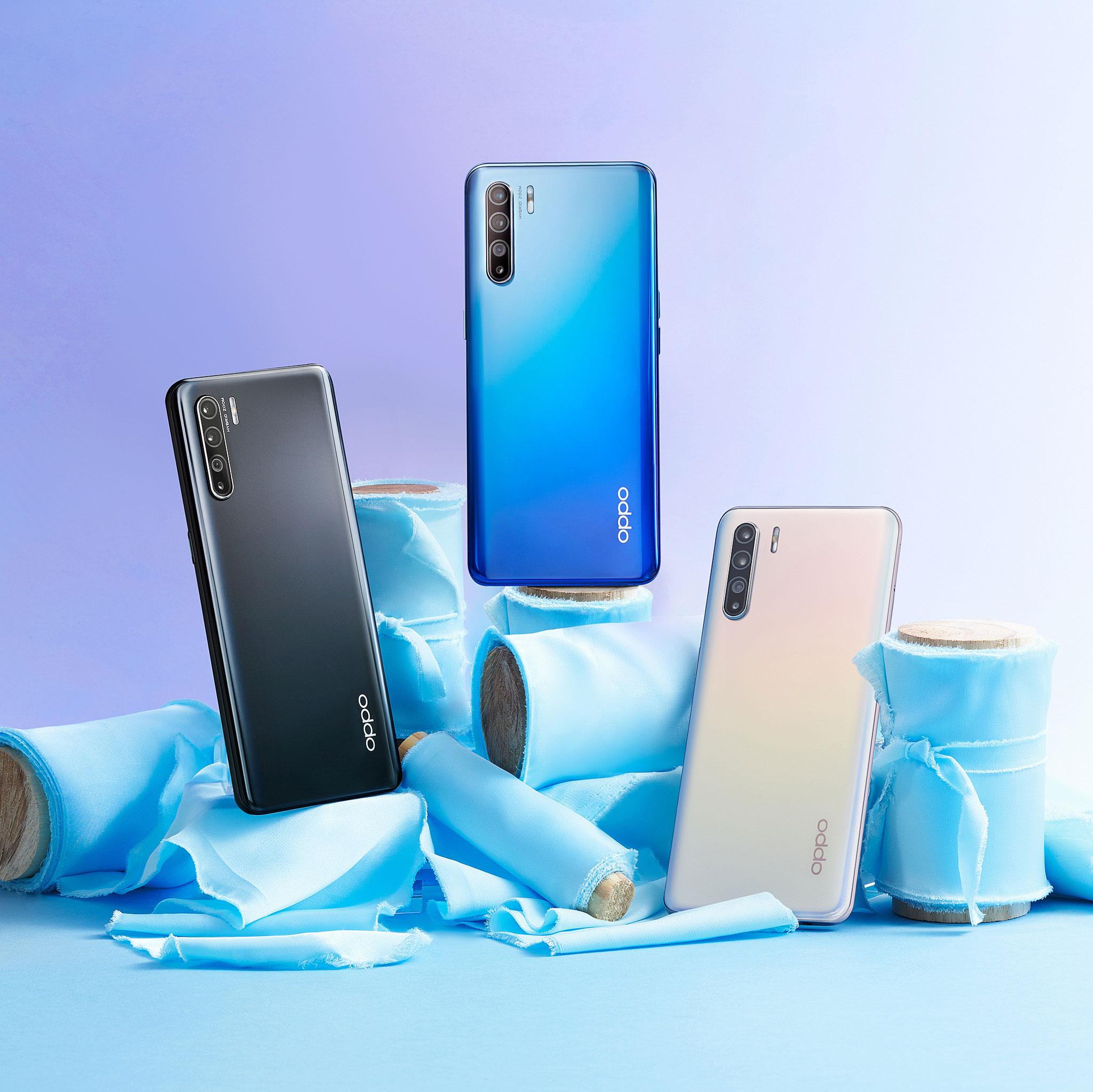 Ba màu sắc của dòng điện thoại OPPO Reno3 mới
