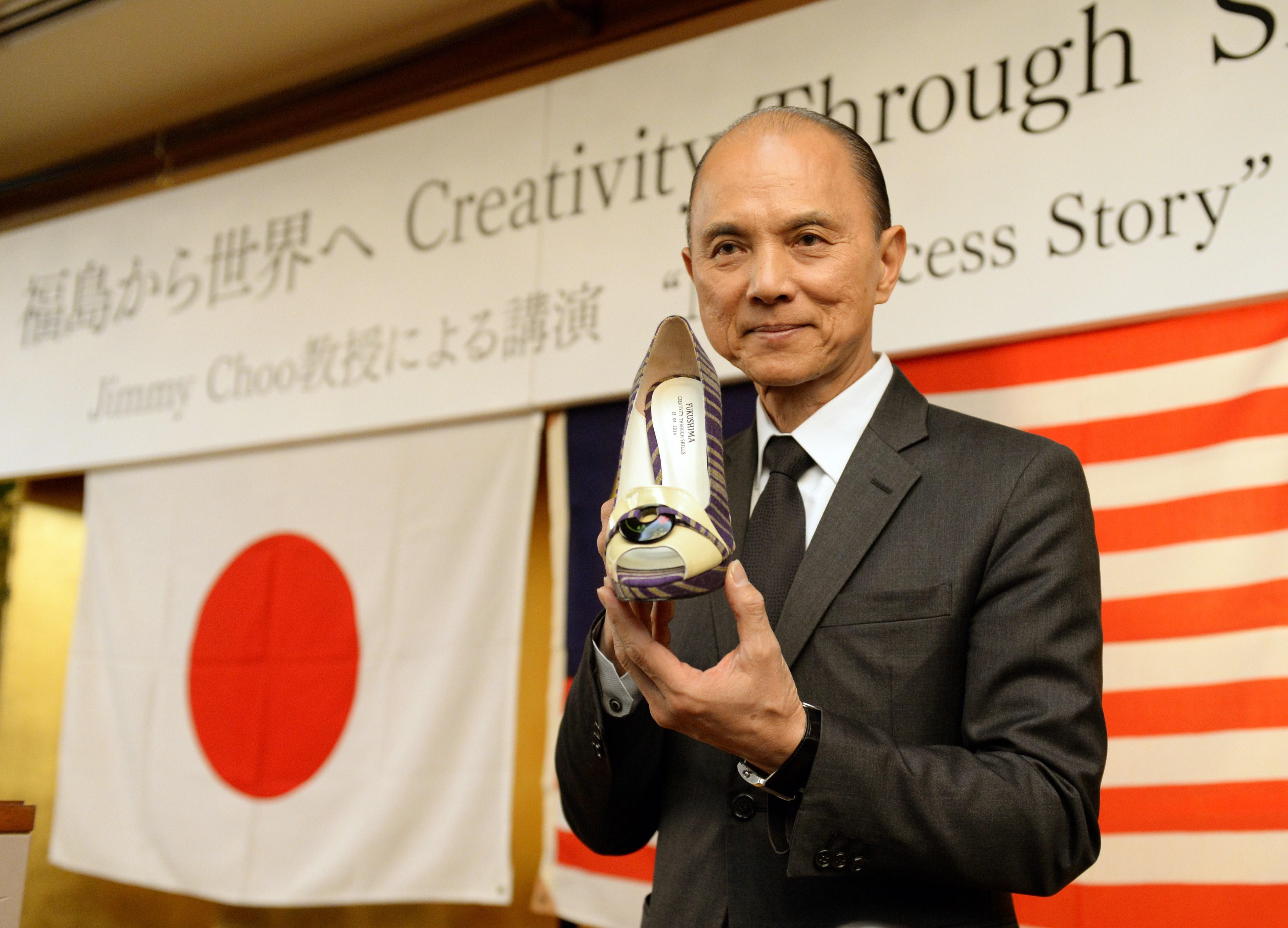 NTK Prof. Jimmy Choo, OBE tại sự kiện tặng già ở fukushima