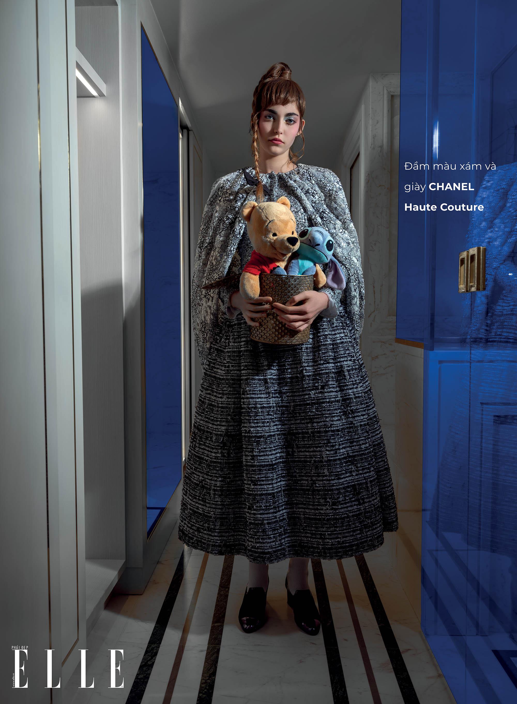 haute couture đầm màu xám