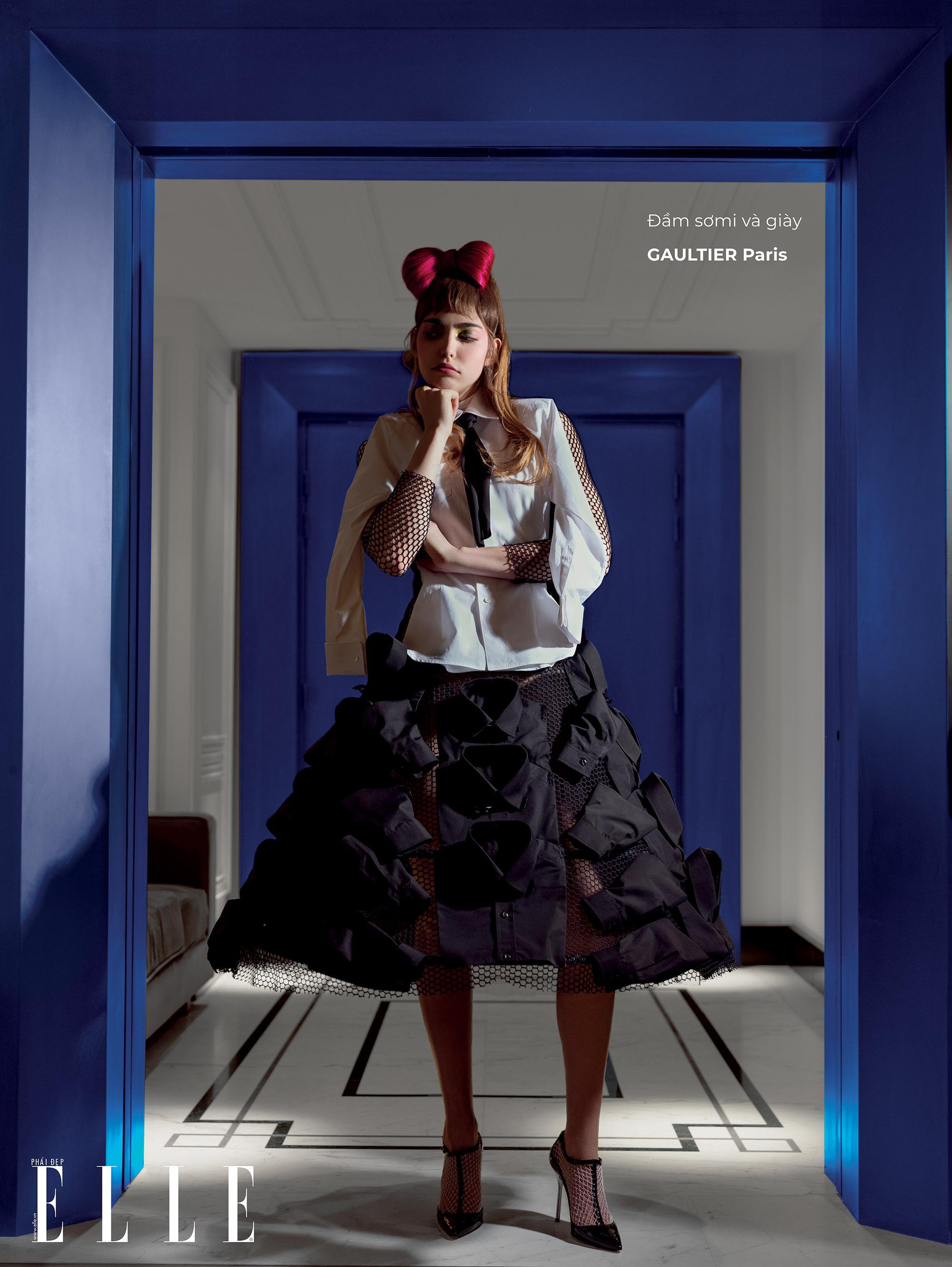 haute couture đầm somi và giày
