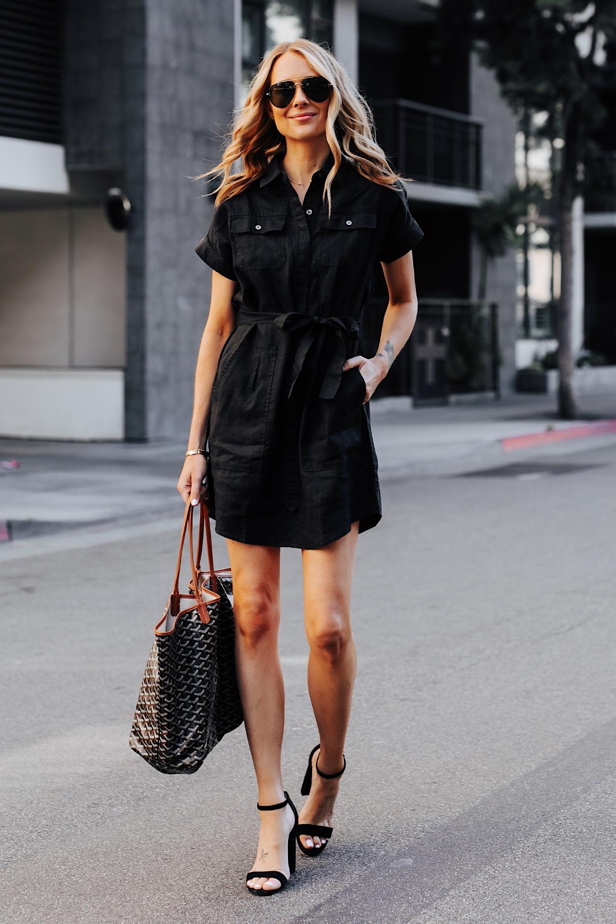 đầm sơmi giấu quần đen fashion jackson