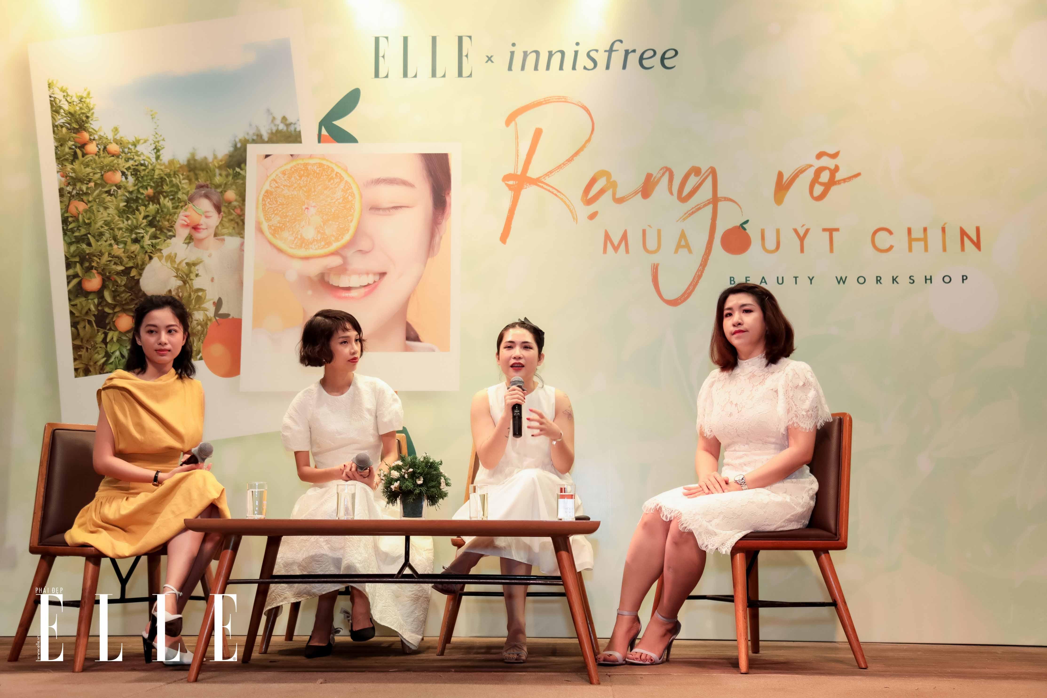 Beauty blogger Lâm Thúy Nhàn phát biểu tại workshop innisfree