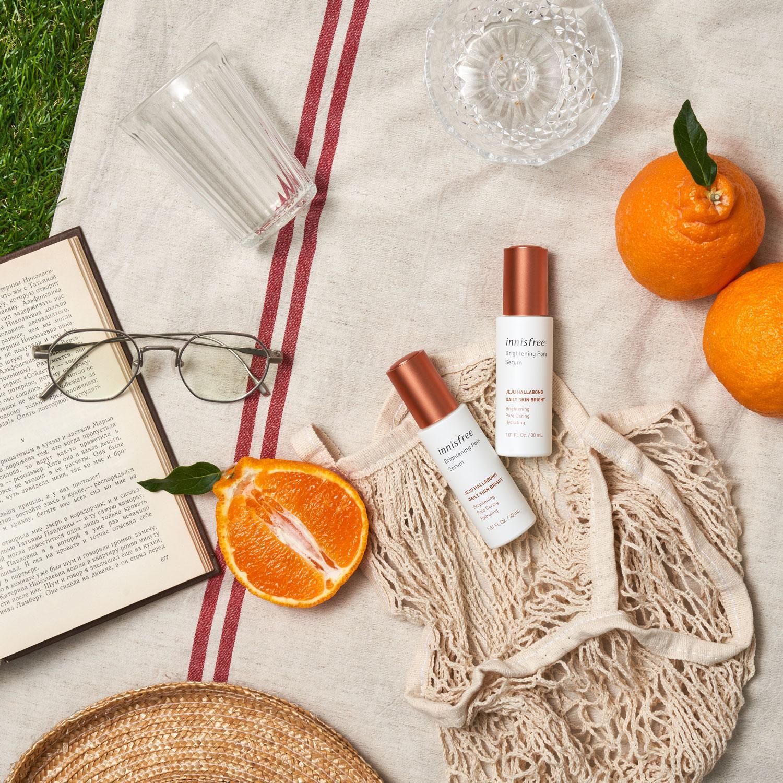 Bộ sản phẩm dưỡng da innisfree Brightening Pore từ quýt Hallabong