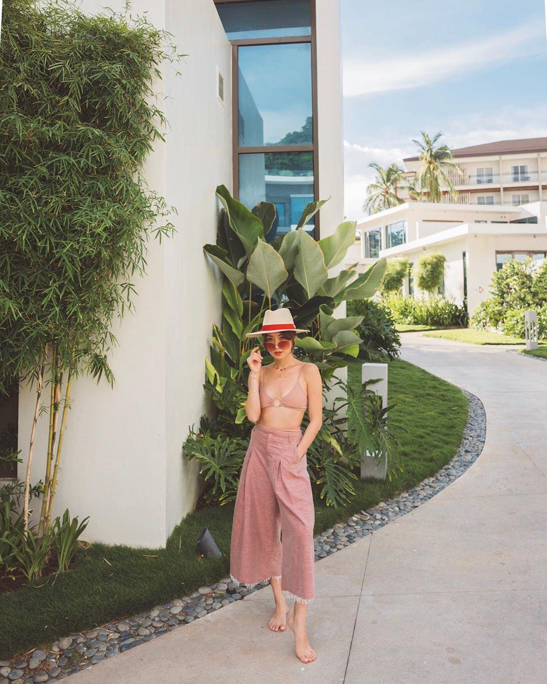 quần culottes hồng bikini kryzzie
