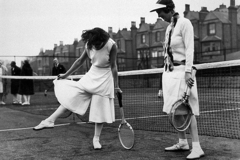 quần culottes tennis 1931 divided skirt