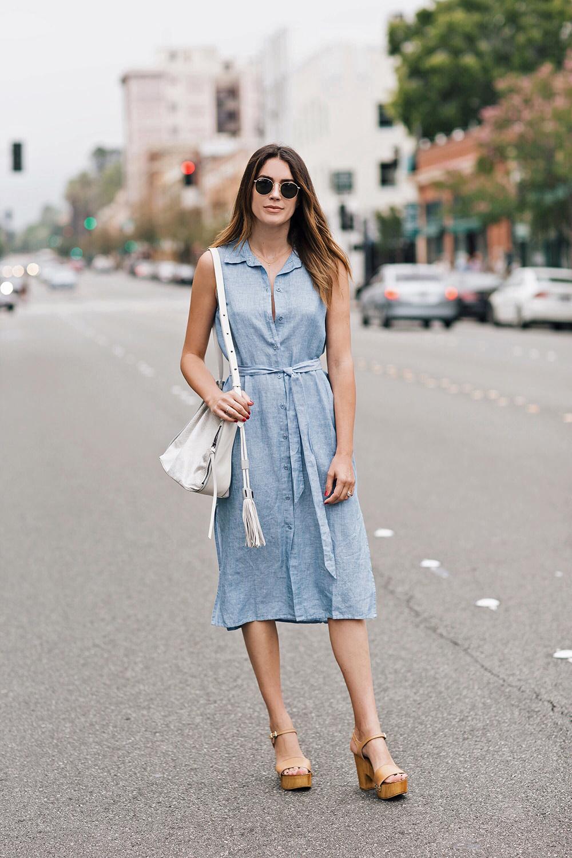 bí quyết mặc đầm sơ mi từ fashionista 2