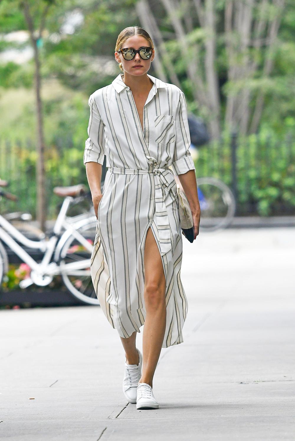 bí quyết mặc đầm sơ mi từ fashionista olivia