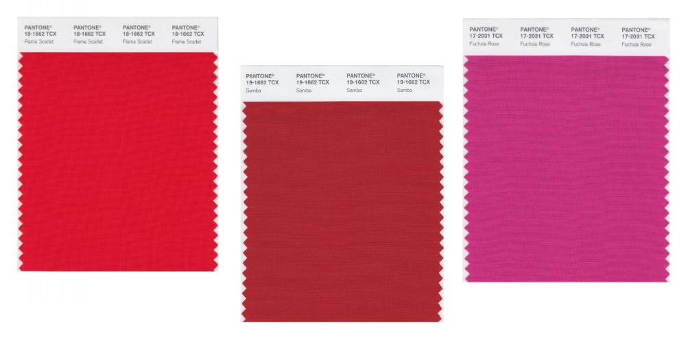 cách phân biệt màu pantone nhóm màu đỏ