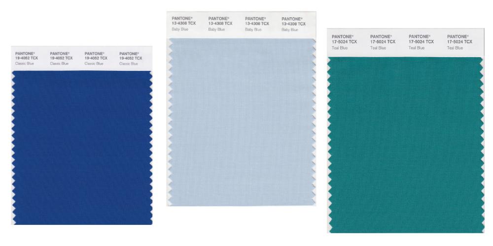 phân biẹt màu pantone nhóm màu xanh dương