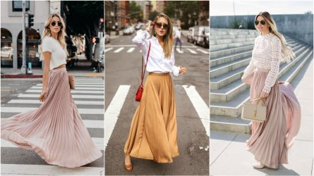 Experiment with 5 styles with pleated skirts