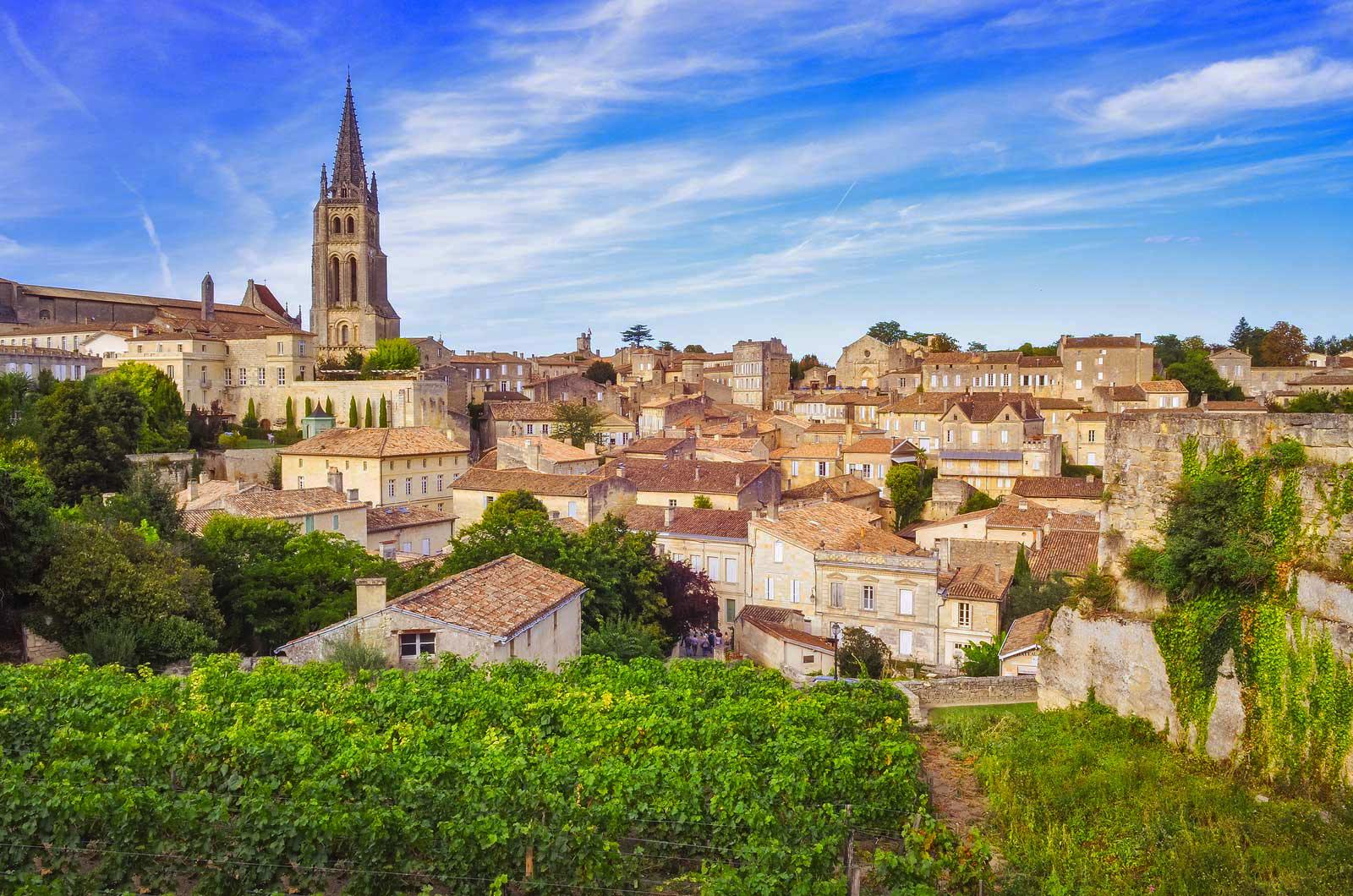 thị trấn Saint-Émilion, Bordeaux