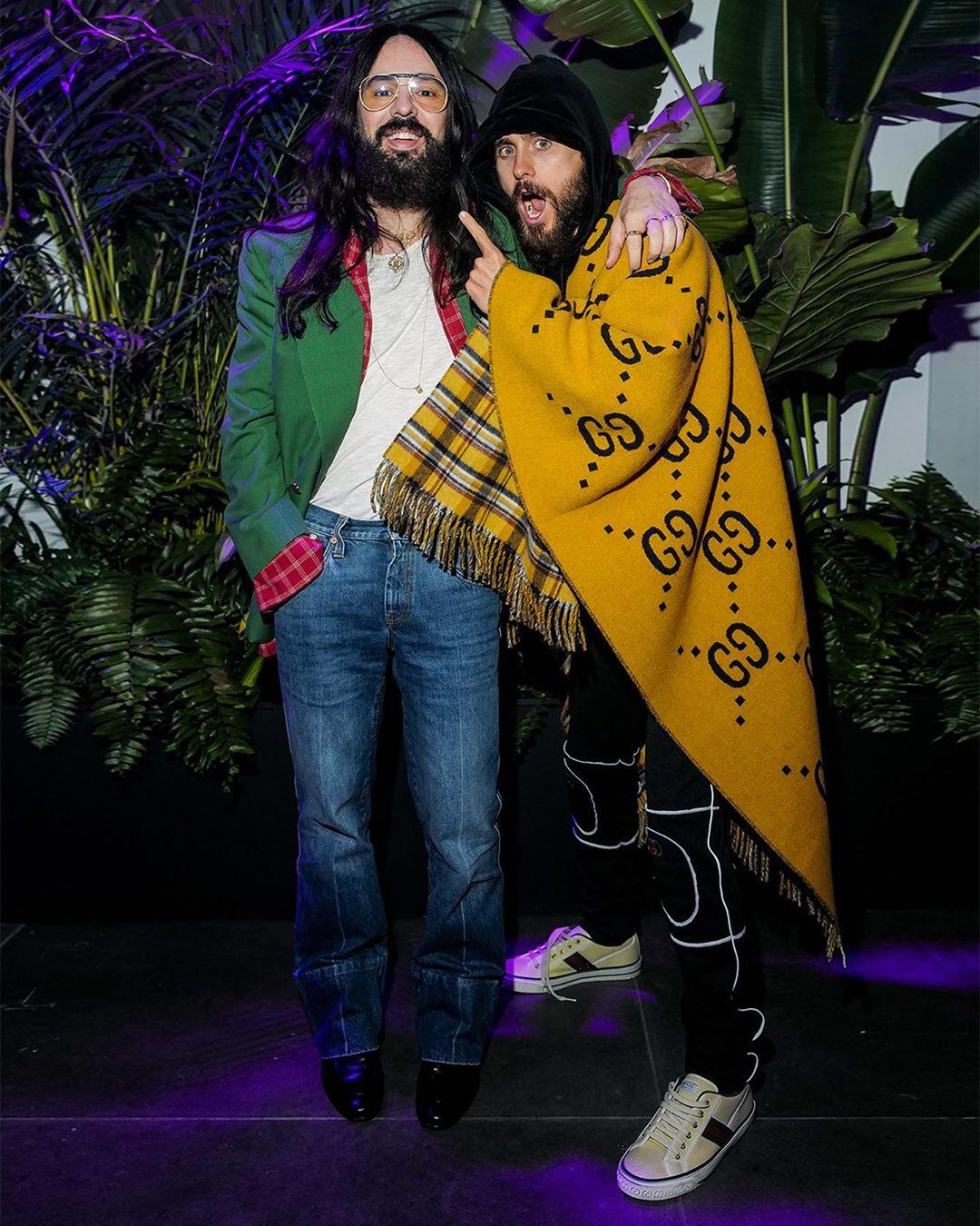 những câu nói hay về thời trang - Alessandro Michele và Jared Leto tại sự kiện của Gucci