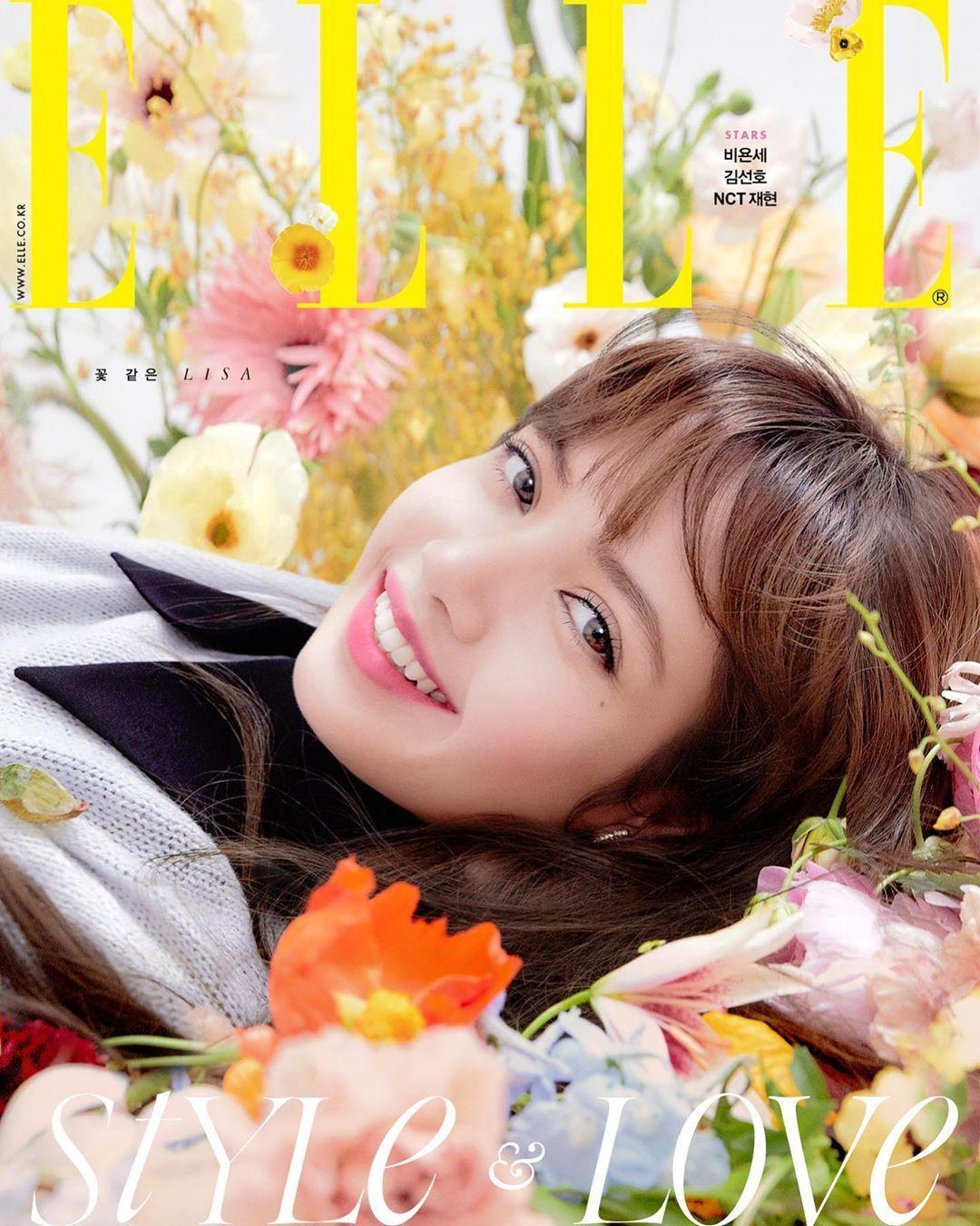 sao kpop BLACKPINK Lisa trên trang bìa tạp chí ELLE Korea 2020