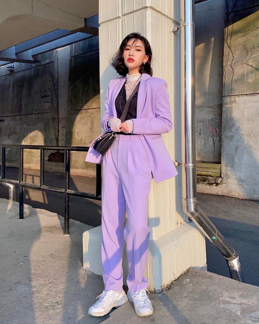 Âu phục màu tím lilac